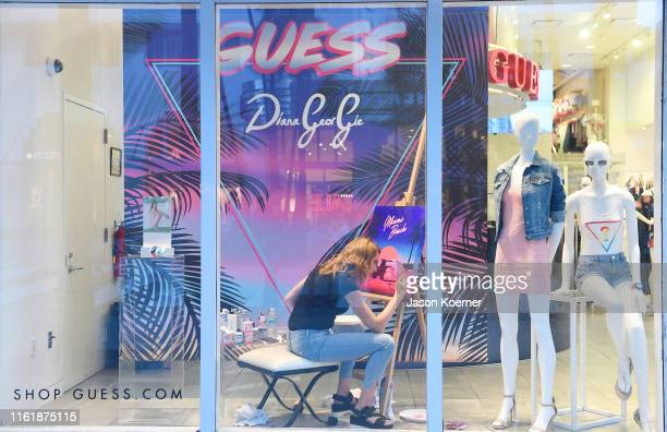 Diana Georgie is seen during the GUESS Meet Greet To Celebrate Watch Collaboration During Miami Swim Week at GUESS Lincoln Road on July 13 2019 in...