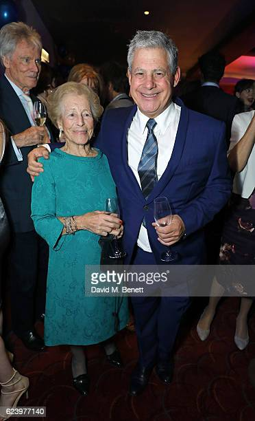 Diana Gladys Tonna and Cameron Mackintosh attend the press night after party for Half A Sixpence at The Prince of Wales Theatre on November 17 2016...