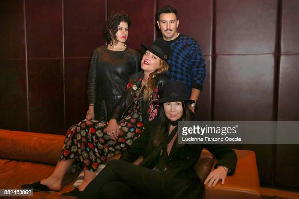 Diana Gomez Alice Temperley Victor Blanco and Tanya Gill at book launch for Alice Temperley English Myths And Legends on November 29 2017 in...