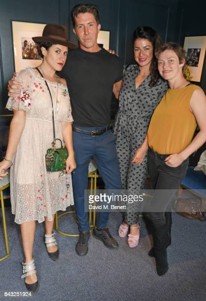 Diana Gomez Ben Charles Edwards Nadia Doherty and Camilla Rutherford attend a private breakfast hosted by Azzi Glasser to launch of new fragrance...