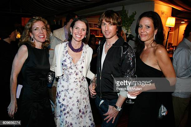 Diana Hall Hollye Jacobs Gregg Zgonena and Sara Albrecht attend NetJets Richard Gray Gallery and Marvin R Shanken Art Basel Cocktail Reception with...
