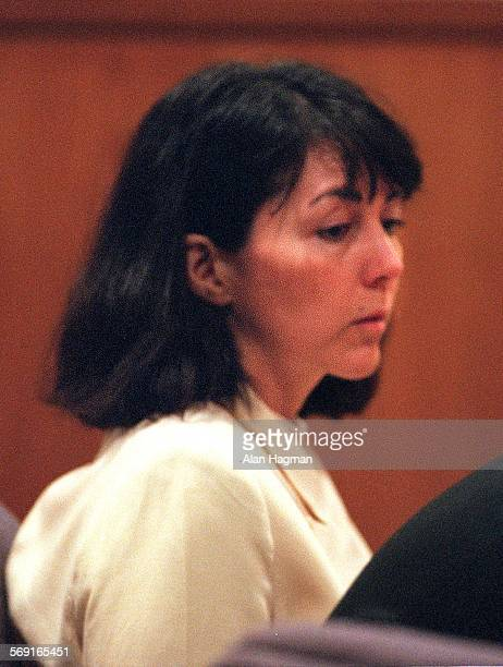 PHOTO––Diana Haun casts her gaze downward in court on Friday in Ventura after a jury found her guilty of 1st degree murder in the death of Sherri...