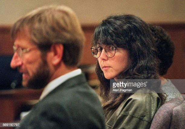 Diana Haun listens to to Deputy Public Defender Neil Quinn address the court during her arraignment Thursday in the murder of Sherri Renee Dally.