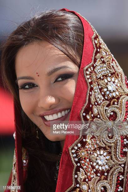 Diana Hayden attends the 'The Incredible Indian Bride' photocall during the MIPTV 2011 at Hotel Majestic on April 5 2011 in Cannes France