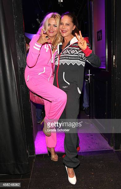 Diana Herold and Doreen Dietel wearing a OnePiece jumpsuit during the 'Comfort Brings Confidence' OnePiece Launch Party at P1 on November 1 2014 in...