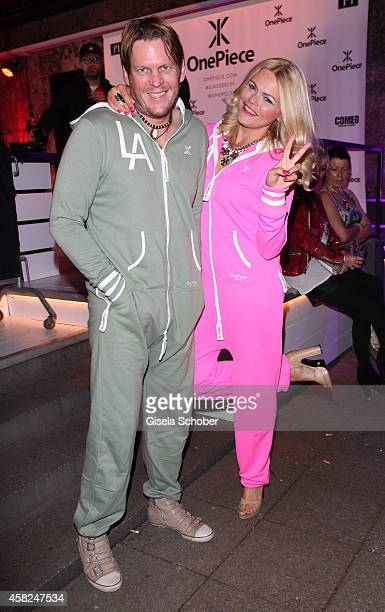 Diana Herold and her fiance Michael Tomaschautzki attend the 'Comfort Brings Confidence' OnePiece Launch Party at P1 on November 1 2014 in Munich...