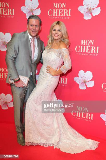 Diana Herold and her husband Michael Tomaschautzki during the Mon Cheri Barbara Tag at Alte Bayerische Staatsbank on December 4 2018 in Munich Germany