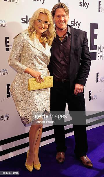 Diana Herold and Michael Tomaschautzki attend the E Entertainment Event on April 11 2013 in Munich Germany