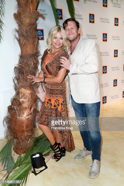 Diana Herold and Michael Tomaschautzki during the Aldi Sued X Michelle Hunziker Beachwear collection presentation at Haus der Kunst on May 28 2019 in...