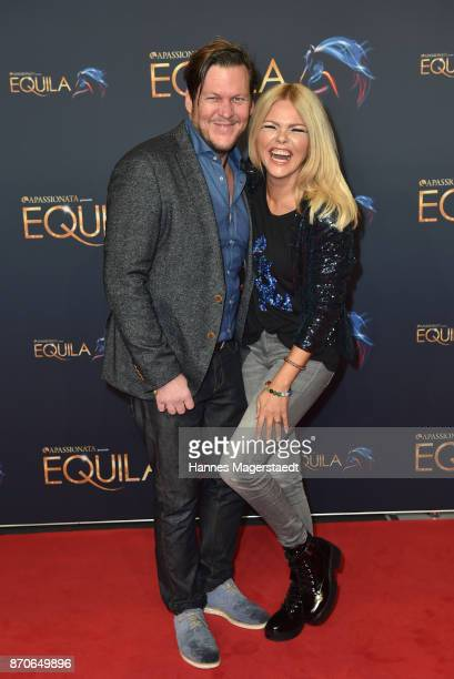 Diana Herold and Michael Tomaschautzki during the world premiere of the horse show 'EQUILA' at Apassionata Showpalast Muenchen on November 5 2017 in...