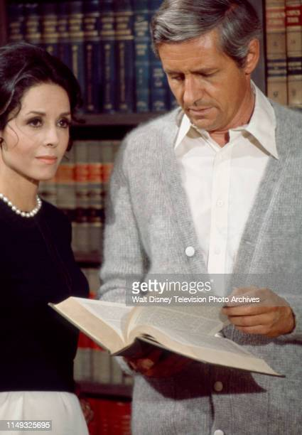 Diana Hyland, Arthur Hill appearing in the ABC tv series 'Owen Marshall, Counselor at Law' episode 'Final Semester'.