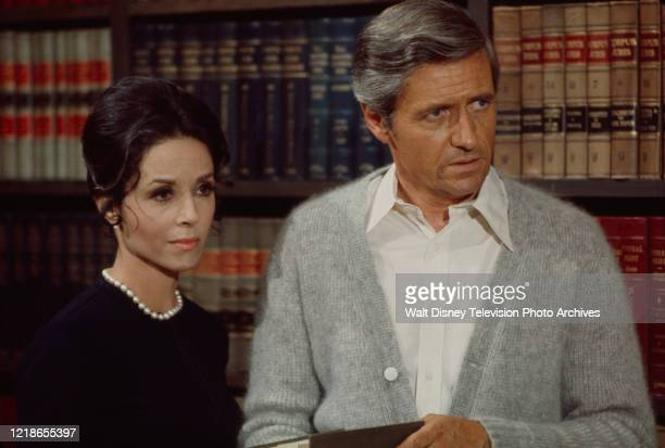 Diana Hyland, Arthur Hill appearing in the ABC tv series 'Owen Marshall, Counselor at Law'.