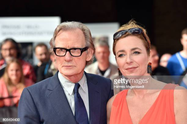 Diana Iljine and actor Bill Nighy during premiere of 'Ihre Beste Stunde' as closing movie of Munich Film Festival 2017 at Gasteig on July 1 2017 in...
