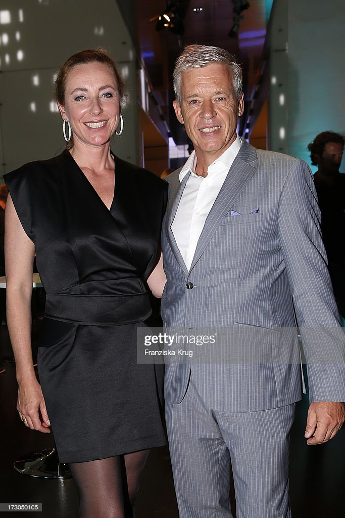 Diana Iljine and Ulrich Knieps attend the Munich Film Festival 2013 - 'Foerderpreis Neues Deutsches Kino' at BMW Museum on July 05, 2013 in Munich, Germany.
