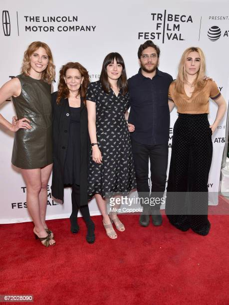 Diana Irvine, Deirdre O'Connell, Sophie Brooks, Matthew Shear, and Zosia Mamet attend 'The Boy Downstairs' Premiere during the 2017 Tribeca Film...