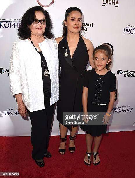 "Diana Jimenez Medina,Salma Hayek and Valentina Paloma Pinault arrives at the Screening Of GKIDS' ""Kahlil Gibran's The Prophet"" at Bing Theatre At..."
