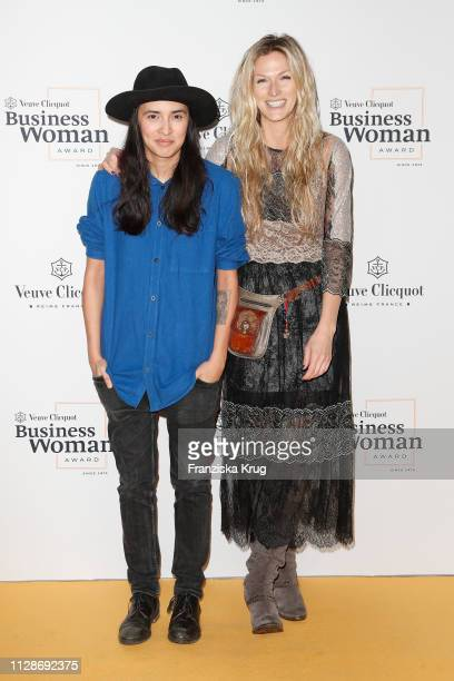 Diana Kinnert and Mia Florentine Weiss during the Veuve Clicquot Business Woman Award 2019 at French Embassy on March 4, 2019 in Berlin, Germany.