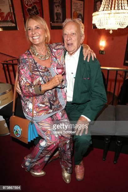 Diana Koerner and Heinz Baumann Soko 5113 colleague of her former husband Werner Kreindl during the 'Mirandolina' premiere at Komoedie Bayerischer...
