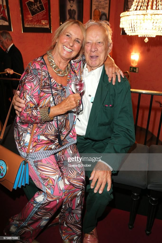 Diana Koerner and Heinz Baumann, Soko 5113, colleague of her former husband Werner Kreindl during the 'Mirandolina' premiere at Komoedie Bayerischer Hof on June 13, 2018 in Munich, Germany.
