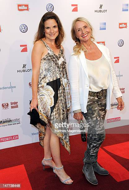 Diana Koerner daughter JennyJoy Kreindl attend the Movie Meets Media Party during the Munich Film Festival at the P1 on July 2 2012 in Munich Germany