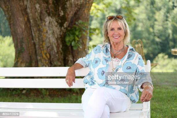 Diana Koerner during the 'WaPo Bodensee' photo call at Schloss Freudental on August 1, 2017 in Allensbach-Freudental near Konstanz, Germany.