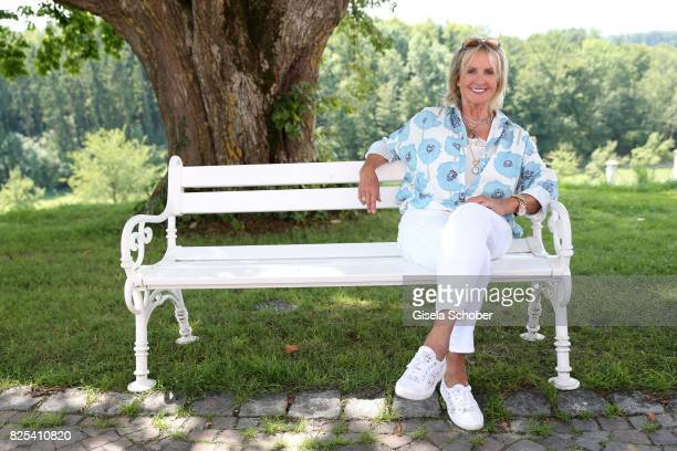 Diana Koerner poses at the 'WaPo Bodensee' photo call at Schloss Freudental on August 1, 2017 in Allensbach-Freudental near Konstanz, Germany.
