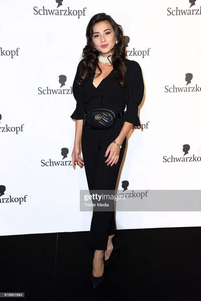 Diana Korkunova attends the 120th anniversary celebration of Schwarzkopf at U3 subway tunnel Potsdamer Platz on February 8, 2018 in Berlin, Germany.