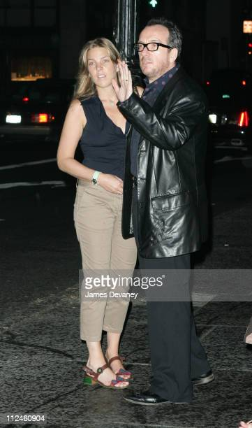 Diana Krall and Elvis Costello during Elvis Costello and Diana Krall Sighting in New York City August 12 2005 at Streets of New York in New York City...