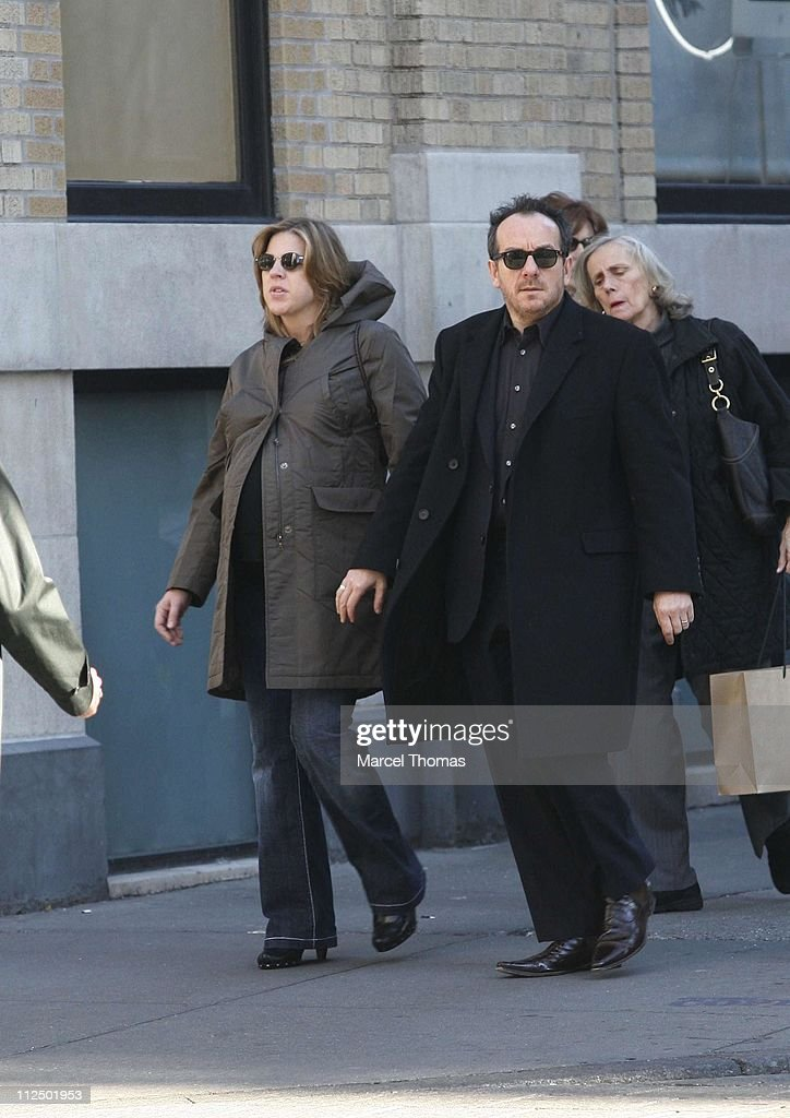 Elvis Costello  and  Diana Krall Sighting at Giggle - New York City - November