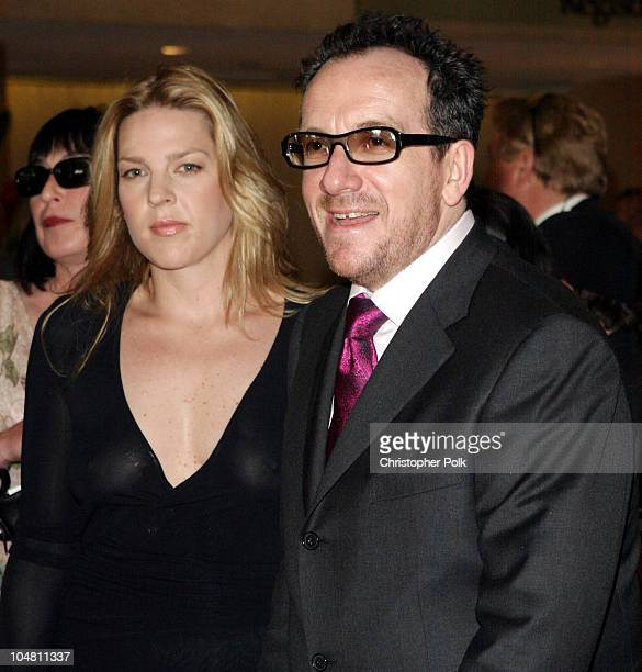 Diana Krall and Elvis Costello during Elvis Costello Recieves Founders Award at the 20th Annual ASCAP Pop Music Awards at The Beverly Hilton Hotel in...
