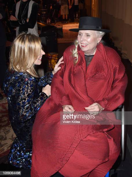Diana Krall and Joni Mitchell attend Joni 75 A Birthday Celebration Live At The Dorothy Chandler Pavilion on November 7 2018 in Los Angeles California