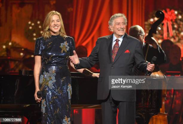 Diana Krall and Tony Bennett perform during the 2018 CMA Country Christmas at Curb Event Center on September 27 2018 in Nashville Tennessee