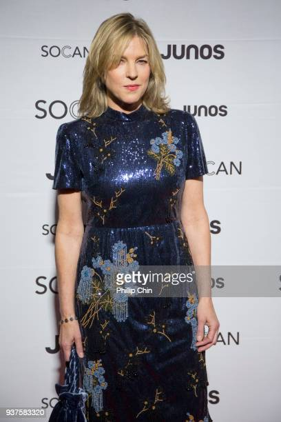 Diana Krall attends the red carpet at the Juno Gala Dinner and Awards at the Vancouver Convention Centre on March 24 2018 in Vancouver Canada