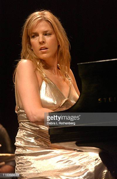 Diana Krall during Diana Krall Live In Concert at Radio City Music Hall in New York City New York United States