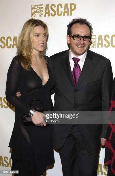 Diana Krall Elvis Costello during ASCAP's 20th Annual Pop Music Awards Arrivals at The Beverly Hilton Hotel in Beverly Hills California United States