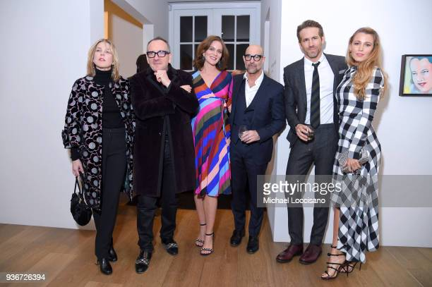 Diana Krall Elvis Costello Felicity Blunt Stanley Tucci Ryan Reynolds and Blake Lively attends the 'Final Portrait' New York Screening After Party at...