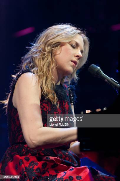 Diana Krall performing live at the Montreux Jazz festival on July 05 2011 at Montreux in Switzerland during the Gala Night in honor of producer Tommy...