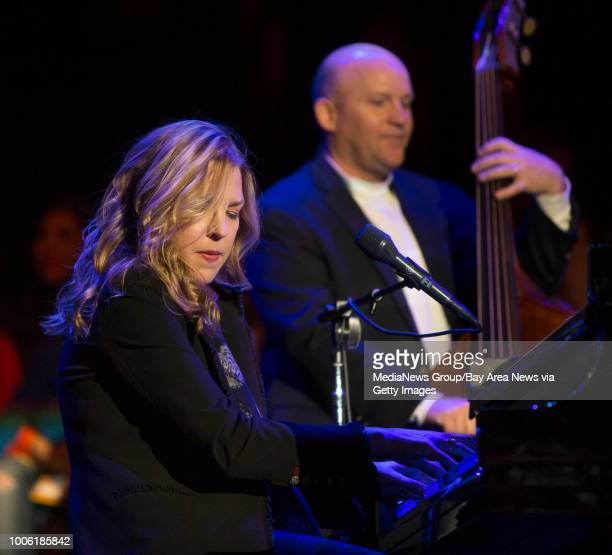 Diana Krall performs at Neil Young's Bridge School Benefit concert at Shoreline Amphitheatre in Mountain View Calif on Saturday Oct 26 2013