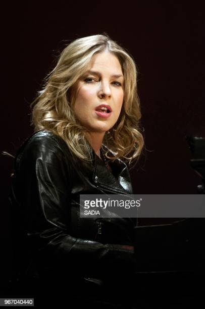 Diana Krall performs on stage during a concert at Le Palais des Congres Paris on November 21 2012 in Paris France