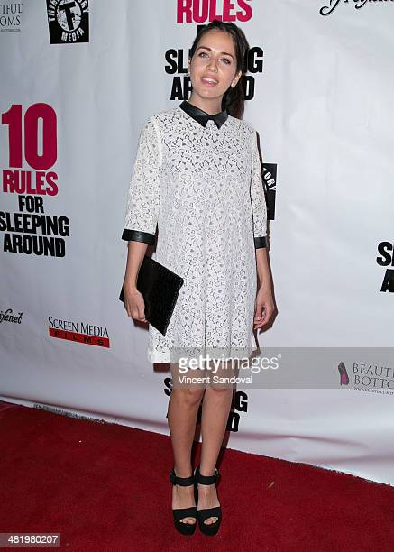 Diana Lado attends the Los Angeles Premiere of 10 Rules For Sleeping Around at the Egyptian Theatre on April 1 2014 in Hollywood California