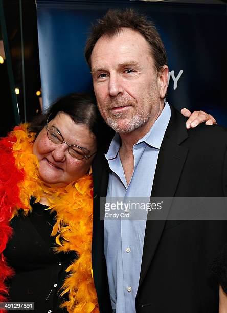 Diana 'Lady Di' Orbani and comedian Colin Quinn visit 'The Opie Anthony Show' at SiriusXM Studios on May 16 2014 in New York City