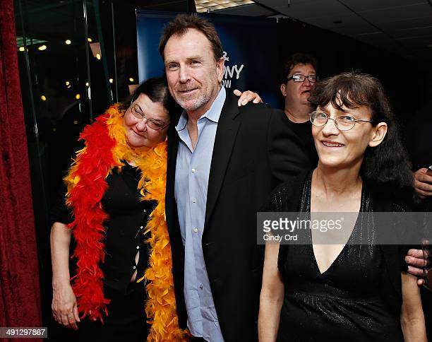 Diana 'Lady Di' Orbani Colin Quinn and Patti 'Stalker Patti' Brooks visit 'The Opie Anthony Show' at SiriusXM Studios on May 16 2014 in New York City