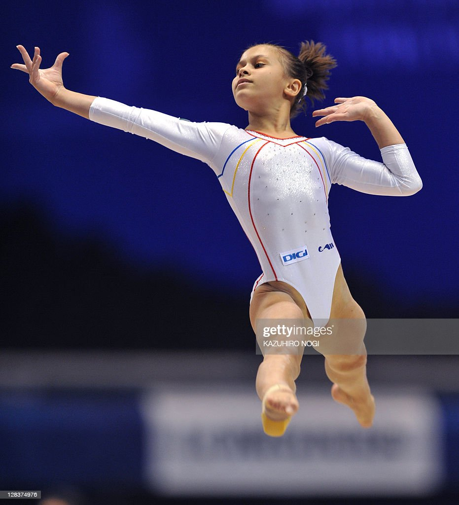 Diana Laura Bulimar of Romania performs ...