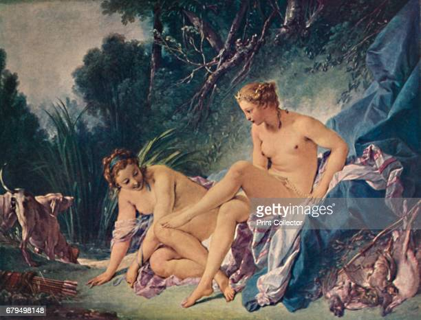 Diana Leaving the Bath with One of Her Companions' From The French Genius by Haldane Macfall [T C and E C Jack London and Edinburgh 1911] Artist...