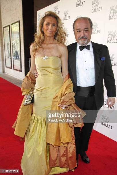 Diana Leconte and Fabrice Leconte attend NEW YORK CITY BALLET Spring Gala 2010 Arrivals at Lincoln Center on April 29 2010 in New York