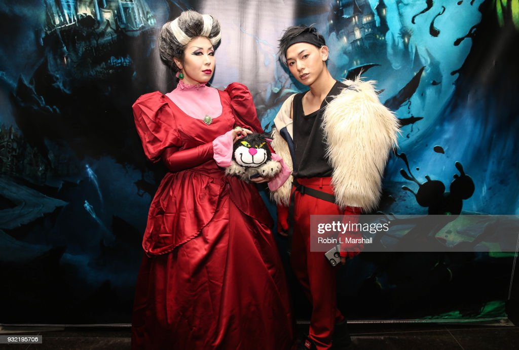 Diana Li and James Milu attend Kyle Chan's Dark Disney Birthday Party at Sofitel Hotel on March 14, 2018 in Los Angeles, California.