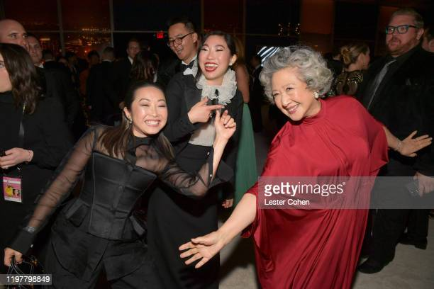 Diana Lin, Awkwafina and Zhao Shuzhen attend The 2020 InStyle And Warner Bros. 77th Annual Golden Globe Awards Post-Party at The Beverly Hilton Hotel...