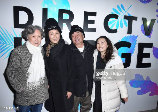 "Diana Lin Lulu Wang and parents at the ""The Farewell"" party at DIRECTV Lodge presented by ATT at Sundance Film Festival 2019 on January 25 2019 in..."