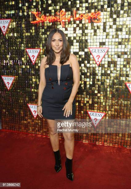 Diana Madison at the Guess Spring 2018 Campaign Reveal starring Jennifer Lopez on January 31 2018 in Los Angeles California