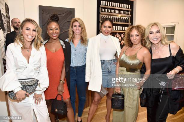 Diana Madison Kinya Claiborne Ali Lasky Taye Hansberry Charlene Roxborough and Anastasia Soare attend the House 99 by David Beckham party hosted by...